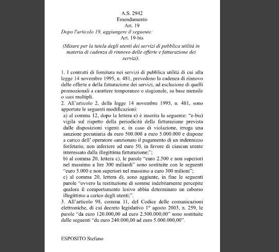 emendamento