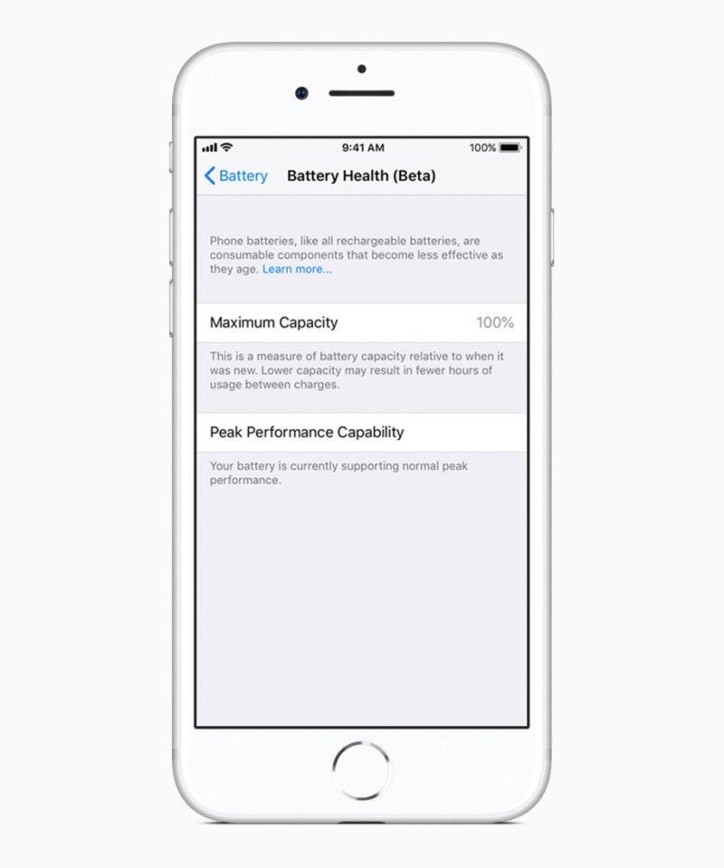 Apple iOS 11 3 battery health screen 03292018