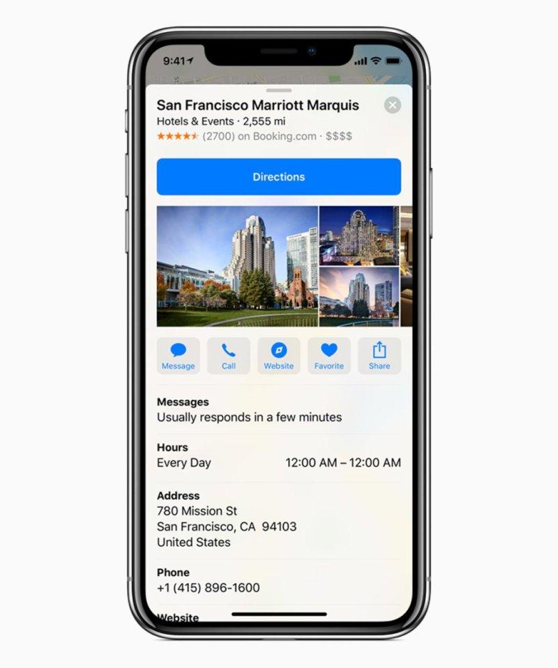 iOS 11 3 business maps screen 03292018