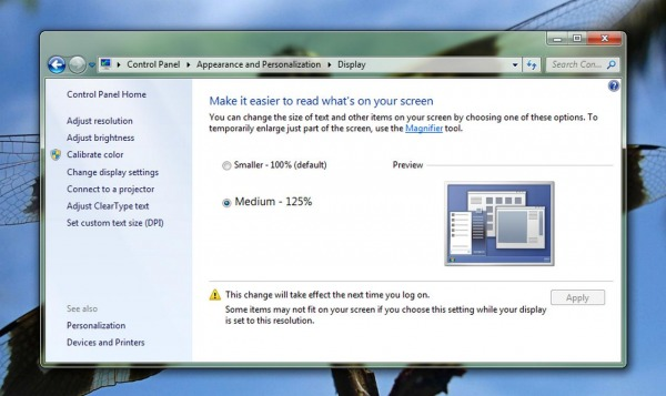 Piccoli trucchi per Windows 7 - Come migliorare la leggibilità del testo
