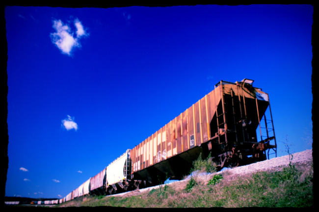 Lined-Up Rail Cars (Edit)