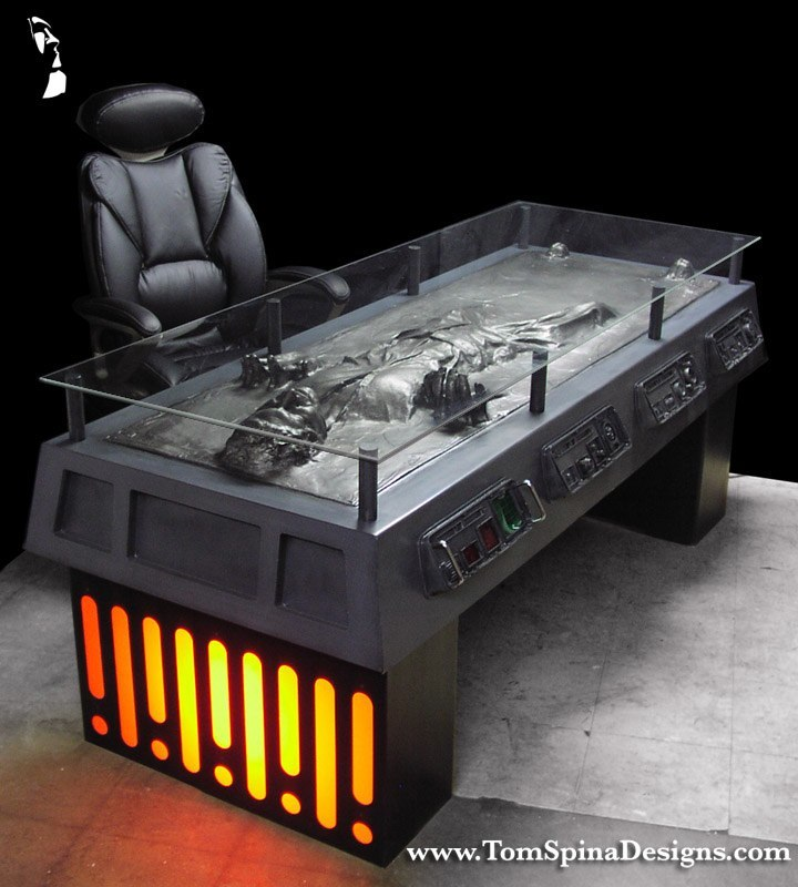 Star Wars Han Solo Carbonite Desk Custom Furniture