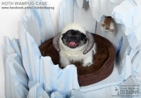 Frozen Ice Cave Custom Dog Bed for Chubbs the Wampug - Tom ...