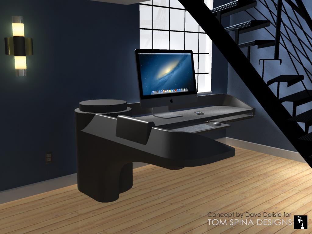 Custom Star Trek Desk Inspired by Movie  TV Sets  Tom Spina Designs  Tom Spina Designs
