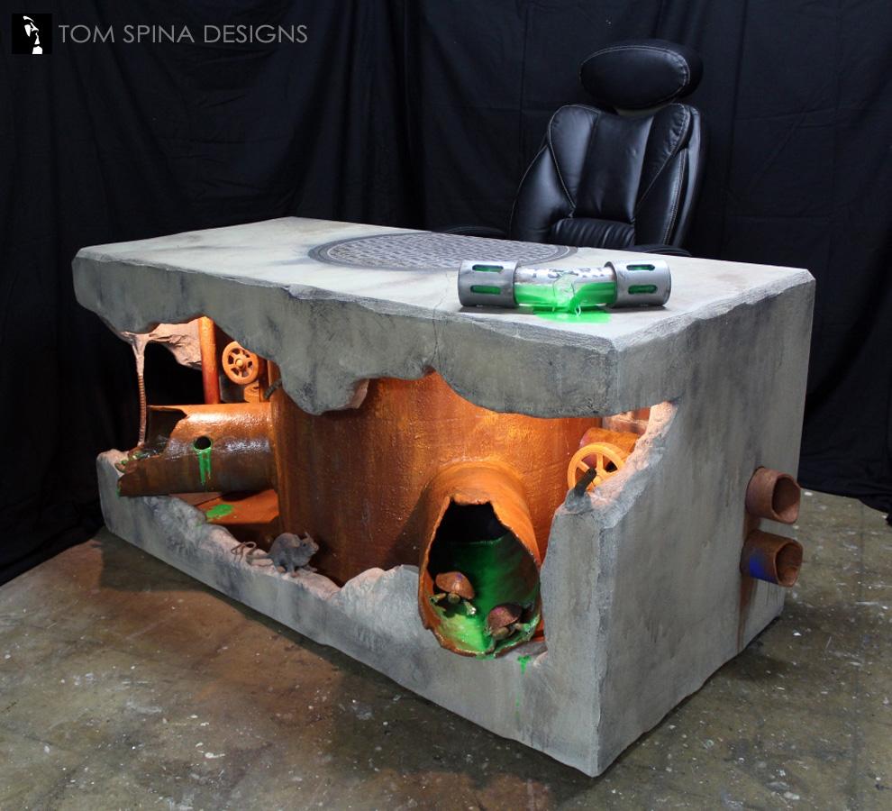 Teenage Mutant Ninja Turtles Inspired Desk  Tom Spina Designs  Tom Spina Designs