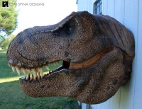 Scaled T-Rex Head Prop Bust - Tom Spina Designs  Tom ...