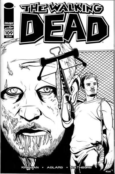 The Walking Dead Fans, amazing hand drawn comic book cover, amazing artist!