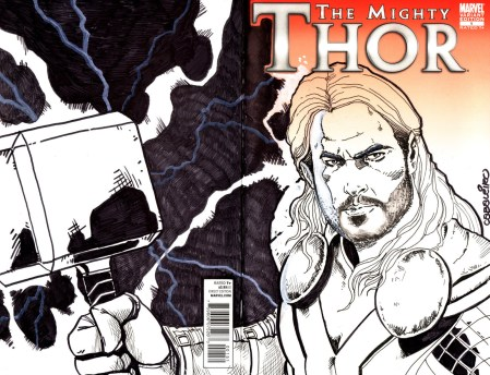 Hand Drawn Comic Book Cover of the Day! 10/28/13, Thor