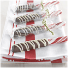 Chocolate covered Candy Canes
