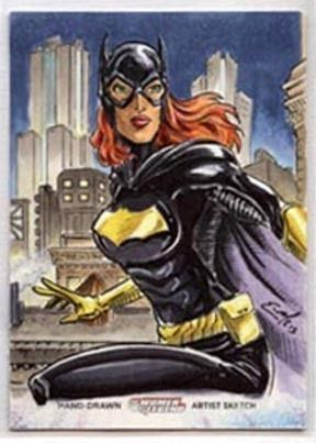 Batgirl Sketch Card