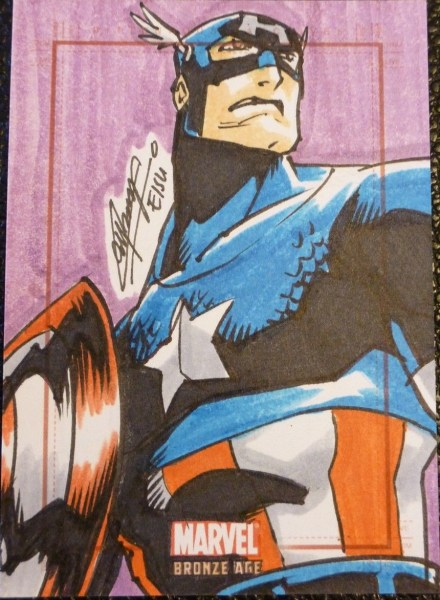 Sketch Card of Captain America