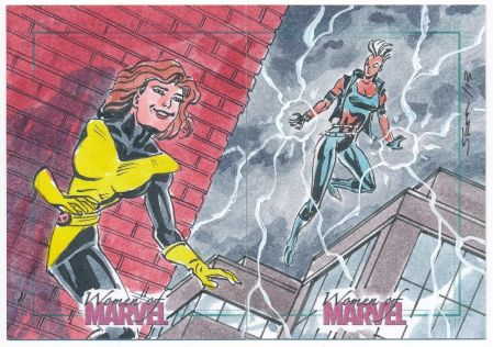 Shadowcat and Storm Hand Drawn Art