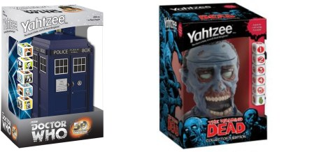 The Walking Dead and Doctor Who Yahtzee Review – Collectible Too!