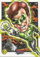 ACEO sketch card GREEN LANTERN! Original artwork by Floyd!