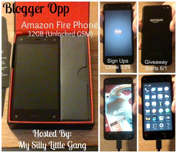 Blogger Opp ~ Amazon Fire Phone Giveaway ~ Free & Paid Options Available
