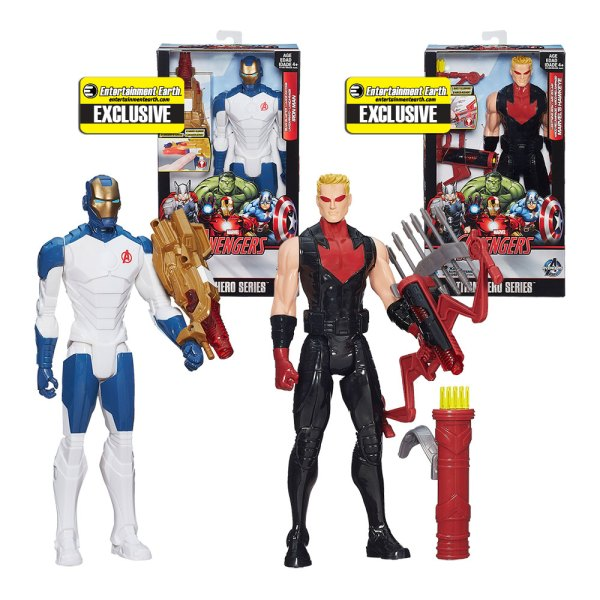 Avengers Iron Man and Hawkeye Electronic Action Figure Set – Entertainment Earth Exclusive