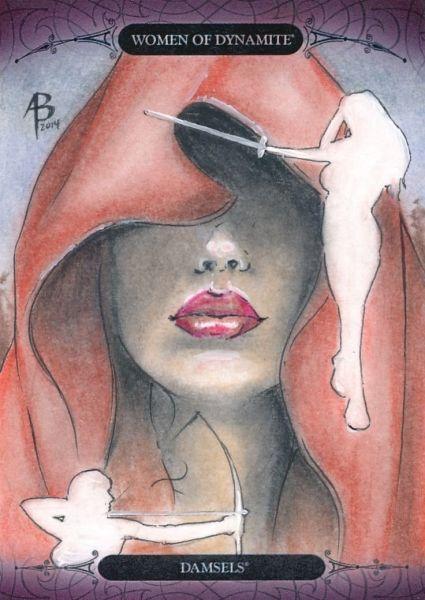 2014 SDCC WOMEN OF DYNAMITE SKETCH CARD DAMSELS BY ADAM BRAUN Sketch Card Artist