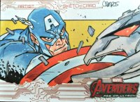 UD MARVEL AVENGERS AGE OF ULTRON SKETCH CARD Daniel Campos CAPTAIN AMERICA Sketch Card Artist