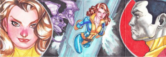 Sketch Card Artist of the Day 7/26/15 – Artist Adriana Melo #marvel #shadowcat @Adriana_Melo