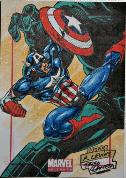 Sketch Card Artist of the Day 7/13/15 – Artist Tirso Llaneta #captainamerica #sketch