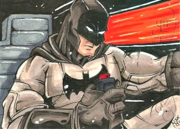 Batman PSC Sketch Card By William J Kunkle Free Shipping USA #batman #sketch #sketchcard