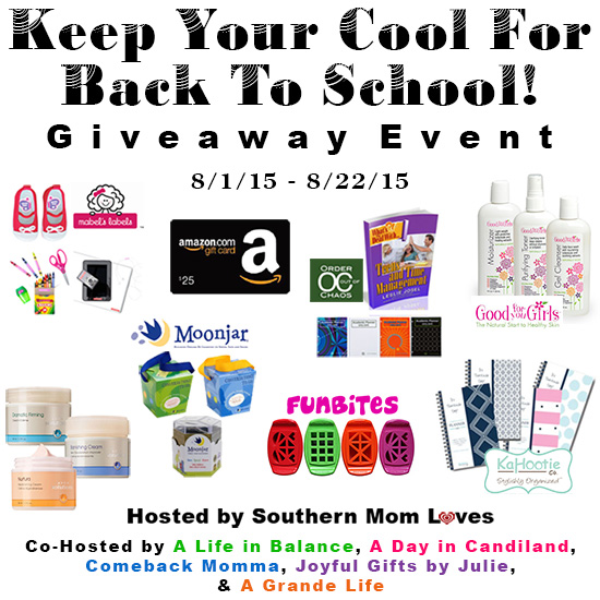 Keep Your Cool for Back to School Giveaway Event Ends 8/22 Lots of great prizes, 1 winner. Good Luck from A Medic's World, be sure to share my site with others! ~Tom