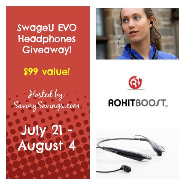 SwageU EVO Headphones Giveaway July 21 - August 4