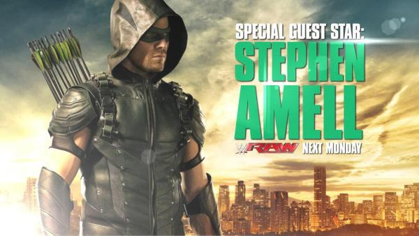 'Arrow' star Stephen Amell to confront Stardust on Raw Even if you are not a Professional Wrestling Fan, you are going to want to see this if you are a Arrow fan like me. Appears 8/10