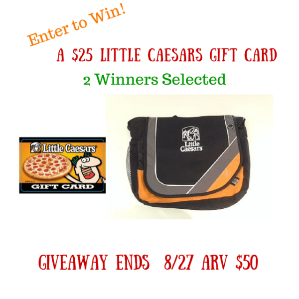$25 Little Ceasars Gift Card Giveaway - 2 Winners - Ends 8/27 I love their Crazy Bread!