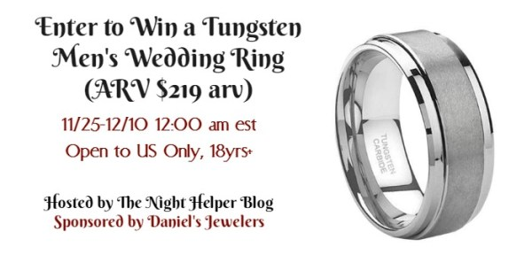 Enter to Win a Tungsten Men's Wedding Ring Ends 12/10
