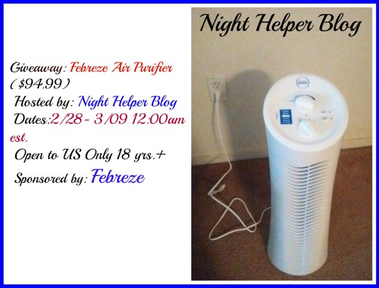 Win a Febreze Air Purifier Tower - Ends 3/9 - Good Luck from Tom's Take On Things