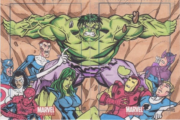 Sketch Card Art of the Day Hulk and Others