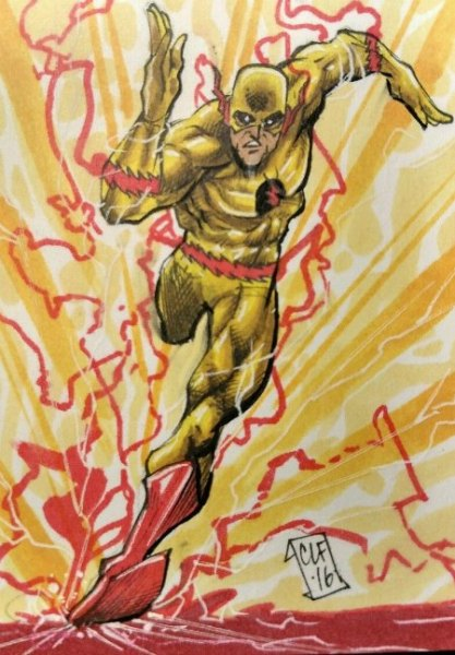 Sketch Card Art of the Day Reverse Flash
