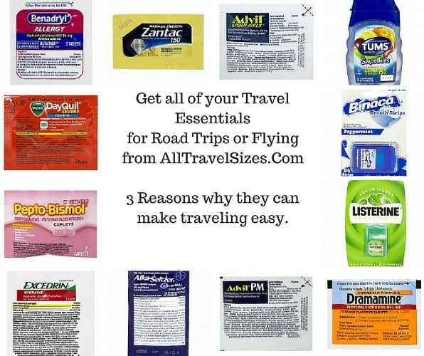Get all of your Travel Essentials for Road Trips or Flying from AllTravelSizes.Com