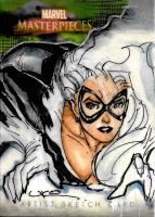 Black Cat Sketch Card