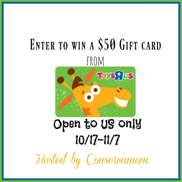 Let's Get Excited! Win a $50 Toys R US Gift Card Good Luck from Tom's Take On Things, be sure to share my site with others!