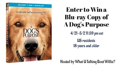 A Dog's Purpose Blu-Ray Copy Giveaway