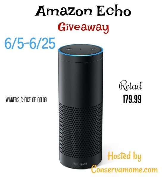 Amazon Echo Giveaway - I wish I had one! But you can win! Ends 6/25
