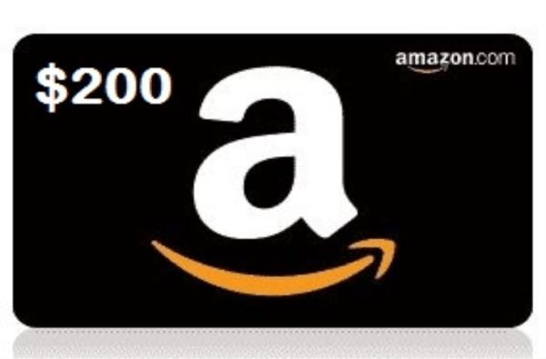You can win a $200 Amazon Gift Card Ends 9/18