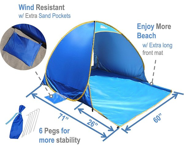 Win a OutdoorsmanLab Automatic Pop Up Beach Tent Ends 9/30
