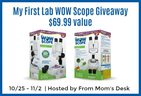 Welcome to the My First Lab WOW Scope Giveaway! Ends 11/2