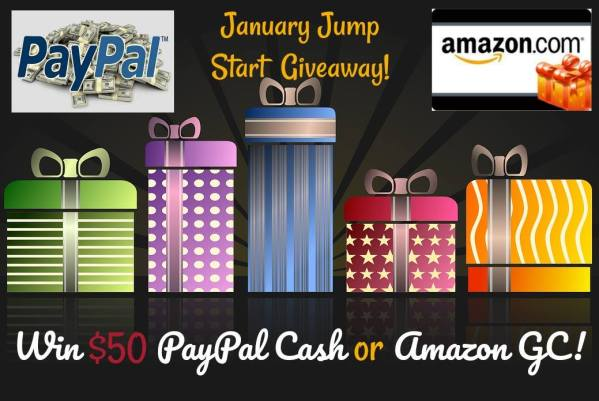$50 PayPal Cash or Amazon Gift Card Giveaway Ends 1/15