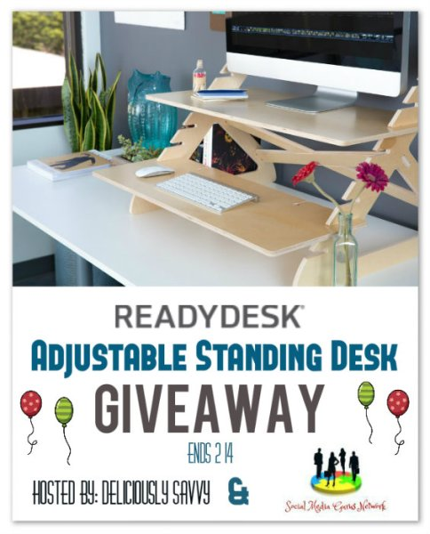 Readydesk ~ Adjustable Standing Desk Giveaway Ends 2/14