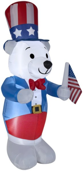 Standard Concession Supply 4' Patriotic Inflatable Polar Bear Ends 5/21