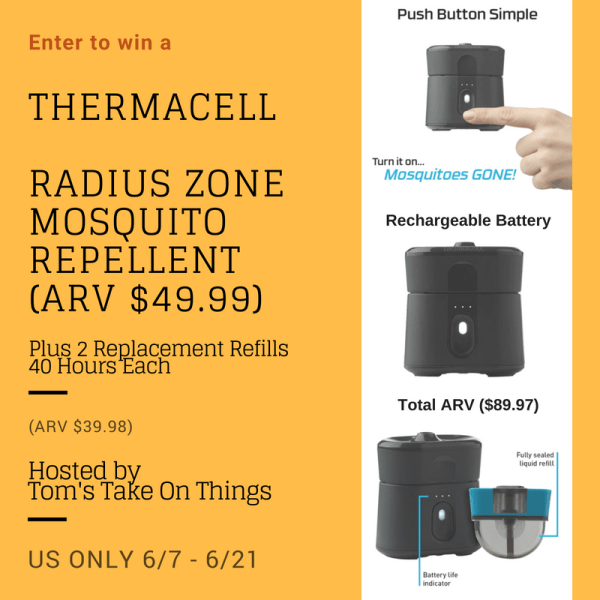 Enjoy the Outdoors without Mosquito's Giveaway - Total ARV $89.97 Ends 6/21 You can't win if you don't enter! ~Tom
