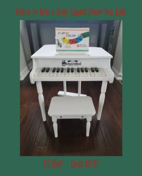 Schoenhut 30-Key Baby Grand Piano Giveaway Great for the Kids, good Luck. Ends 10/17