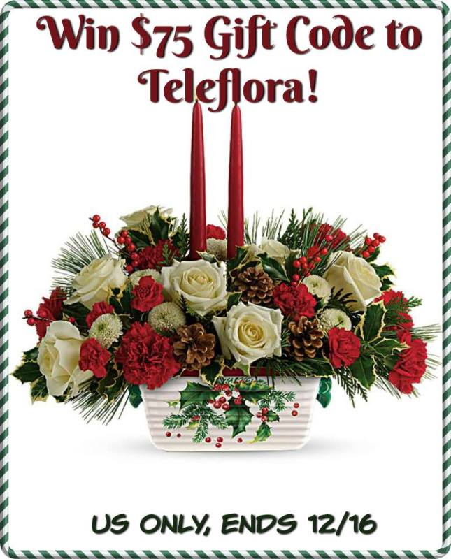 Teleflora $75 Gift Code Giveaway Ends 12/16 What a great gift idea!