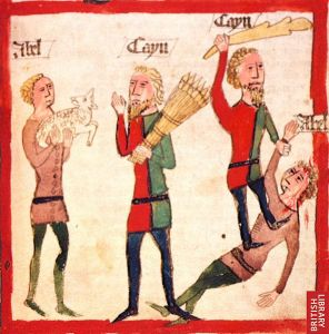 Cain and Able, Germany; 15th century.
