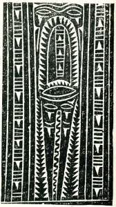 Papua New Guinea_E -Decorative weaponry designs.