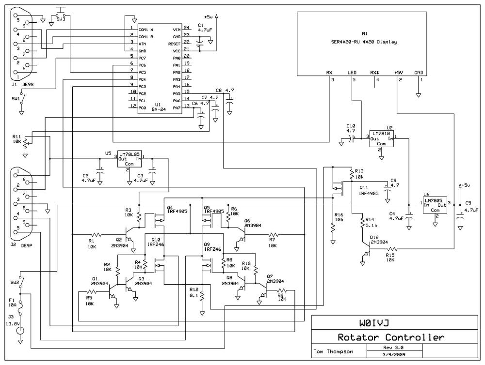 medium resolution of could the arduino rotator computer serial interface controller project have another branch which caters for this kind of circuit which would be very